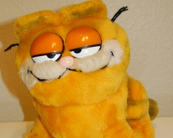 Vintage Garfield Cartoon Cat Stuffed Animal from 1981