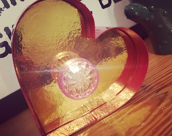 Mini Marquee Heart Light - Red/Gold
