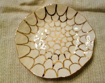 Plate with Gold Scallops, Small