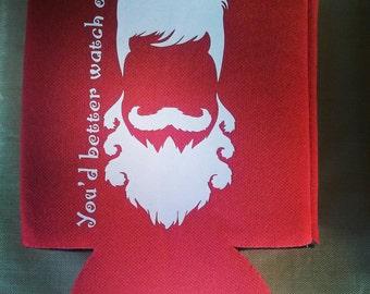 Santa beard can cooler