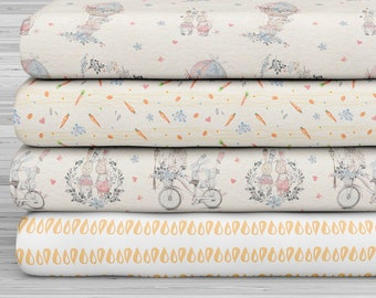 27x17 Felt Sheets - Cute Rabbit Collection - Pattern 3 - Pack of 4