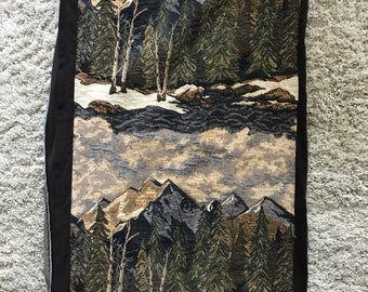 Mountains Cushion Cover, Vintage