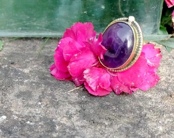 Amethyst ring - Purple Moon