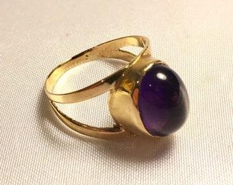 9ct Cabochon Amethyst Ring
