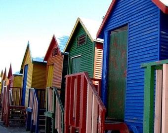 Beach Huts at St James Beach (8x8)