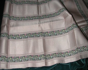 No. 700 Antique Pale Pink Silk Embroidered Ribbon 10 inches x 44 inches in Excellent Condition