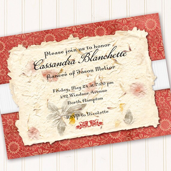 bridal shower invitations, coral birthday party invitations, coral 16th birthday invitations, coral retirement party invitations
