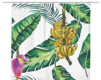 Jungle Tropical Banana Shower Curtain
