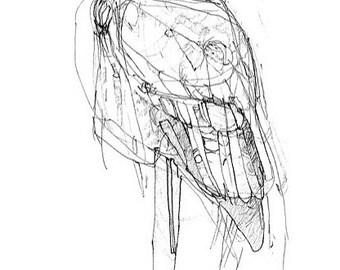 Leavetaking Owl drawing Print