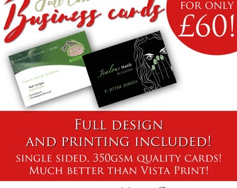 1000 business cards bespoke to your business designed and printed!