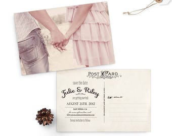 "Rustic save the date cards, 4x6, Save the date, the ""Julie"""