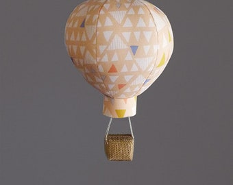 Hot Air Balloon Decoration in Peach Mojave - Nursery, Wedding and Baby Shower Decor - Travel and Explore Themed