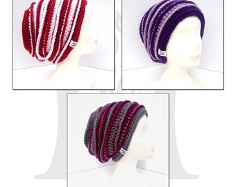 Aarynjay Textured Slouch Hat Crochet Pattern for Women