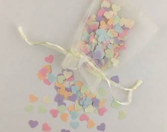 Paper hearts confetti/wedding table decorations