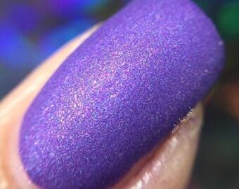 When Doves Cry - matte nail polish - matte purple - 5 free - handmade - indie nail polish - purple nail polish - nails - manicure - makeup