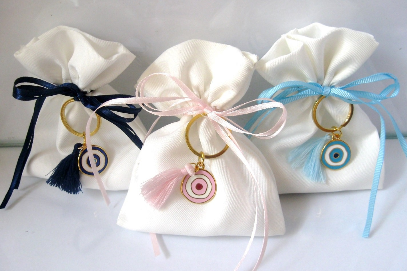 10 pcs Baptism Favor Bags Bomboniere Favor Bag Evil Eye
