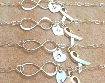 cancer bracelet, personalized bracelet,encouragement gift, infinity bracelets, fighting cancer bracelet, survivor bracelet