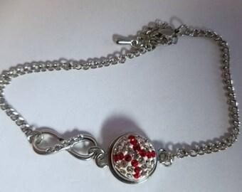 Mini Sparkle Baseball Infinity bracelet