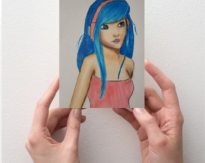 Fine Art ATC/ACEO - Tiny Illustrations - Miniature Illustrations - Copic Marker - Prints