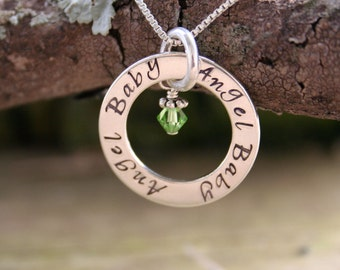Baby Loss Necklace - Eternity Circle Necklace for  Baby Loss