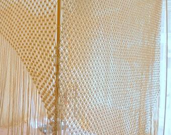 Boho Bed Canopy, Large wall hanging, macrame headboard, Bedroom Decor, Bohomian home decor, boho wall art, Wedding decor, retro home decor
