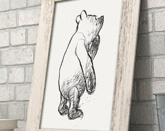 Oh Dear - Winnie the Pooh 11x14 Unframed Nursery Art Print