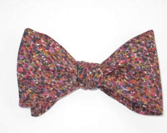 Mens Bow Tie Liberty Of London Virtual Light Reds Pixels Versatile Freestyle Self Tie Your Own BowTie
