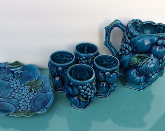 Vintage Inarco blue mood fruit dishes