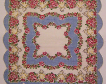 Vintage Floral & Ladies Hankie