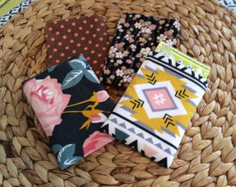 Birth Control Case -Pill Sleeve- Pill Cover Accessory - Pill Cozy - Corduroy Floral, Aztec Pink - Descreet for Your Bag