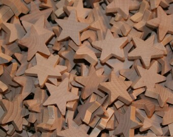"Unfinished Wood Stars 1"""