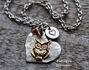 Hooty The Owl Necklace, Owl Necklace, Owl Jewelry, Bird Jewelry, Owl Gift