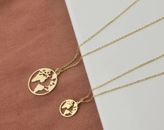 World map necklace etsy earth necklace world map necklace world necklace wanderlust necklace dainty necklace gumiabroncs Image collections
