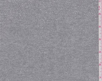 Heather Dark Grey French Terry Knit, Fabric By The Yard