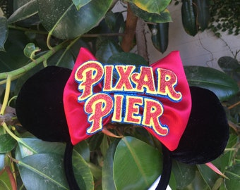 Pixar Pier Inspired Extra Large Bow