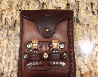 Small Belt Pouch with Apothecary Bottles