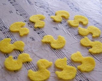 Yellow Duckies Felt Shapes 10