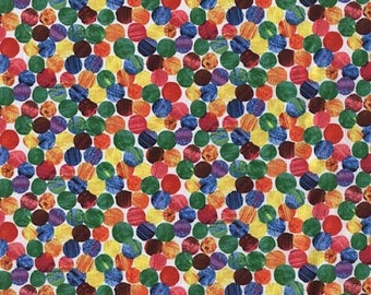 The Very Hungry Caterpillar Abstract Dots From Andover Fabrics by Eric Carle