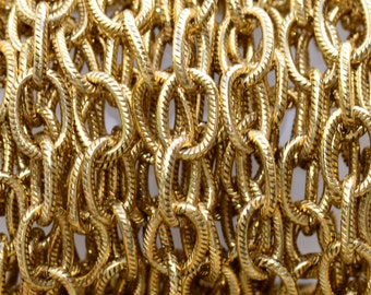1 ft. Large Textured Cable Chain Antique Gold 9 x 6mm -  Nunn Designs Chain
