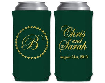 8.3 oz Slim Beer Can Coolers Beverage Insulator Personalized Wedding Favors | Classic (5A) | Energy Drinks/Michelob Ultra | READ DESCRIPTION