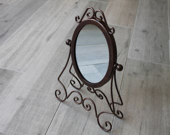 Bronze decorative mirror