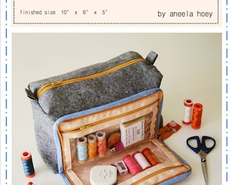 All In One Box Pouch Pattern by Aneela Hoey (Paper Pattern)