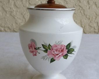 Taylor Smith & Taylor Summer Rose Sugar Bowl Dish