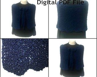 Claire's Gathering Shawl PDF Pattern Sassenach Inspired PDF File Is not a finished product.