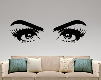 Woman Eyes Wall Decal Vinyl Sticker Make Up Home Interior Design Living Room Bedroom Decor Beauty Wall Art Mural Removable Sticker 5hezz