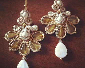 DIY Tutorial soutache: Orecchini Margherita