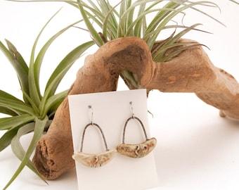 Handmade Ceramic Earrings, Map Earrings, Contemporary Ceramics