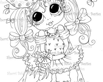 INSTANT DOWNLOAD Digital Digi Stamps Big Eye Big Head Dolls Messy Bessy My Besties Digi Img086 By Sherri Baldy