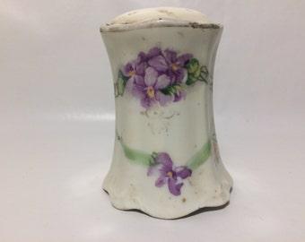Porcelain salt shaker. Marked: SE 1811 Prufs. Antique condition.