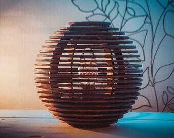 Sphere table lamp geometric desk lamp wooden lamp desk lamp table lamp